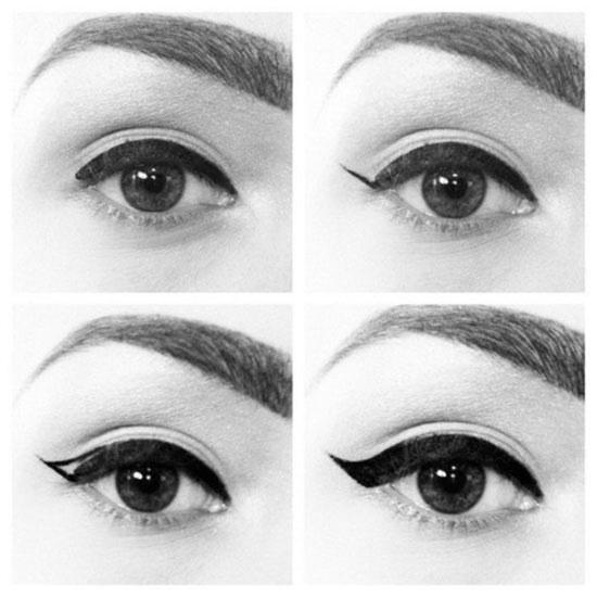 Adım adım eyeliner